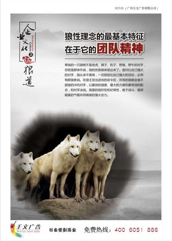 企业团队标语图片_狼性理念的最基本特征在于它的团队精神